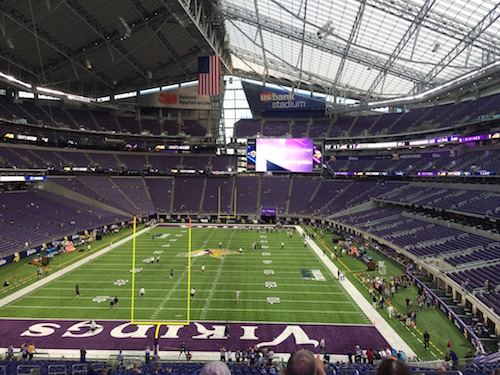 US Bank Stadium View Of Field