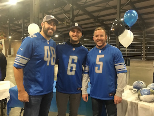 Sam Martin, Matt Prater and Don Muhlbach Giving Back To The Detroit Community