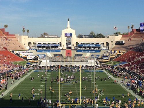 Los Angeles Memorial Coliseum Olympic Torch