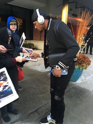 Bradley Beal Signing Autographs Outside Detroit Hotel