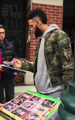 Nets Allen Crabbe Signing Autographs