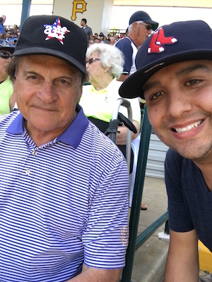 Tony La Russa Photo With Fan At Spring Training