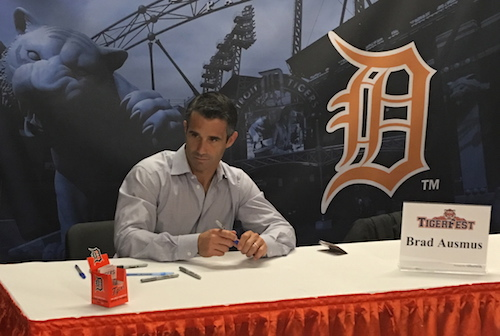Brad Ausmus signing autographs at TigerFest