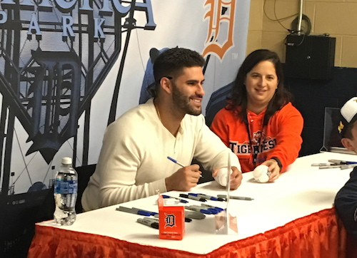 J.D. Martinez signing autographs at TigerFest