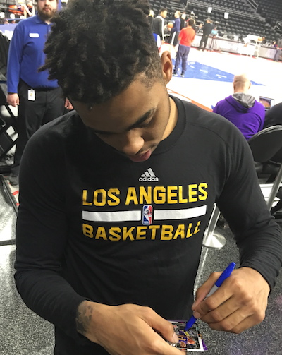 D'Angelo Russell Signing Autographs