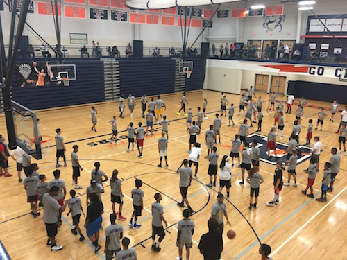 Kyle Kuzma Basketball camp Flint