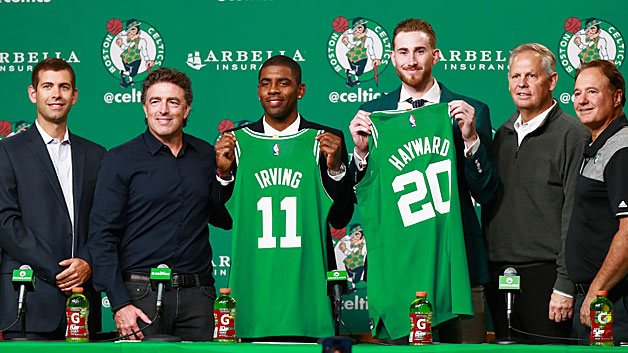 Kyrie Irving and Gordon Hayward join Celtics