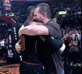 LeBron James Hug Joe Thomas
