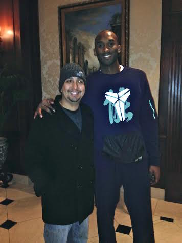 Kobe Bryant photo with fan