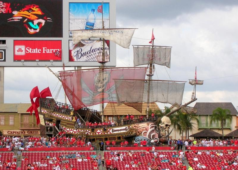 Raymond James Stadium Pirate Ship and Buccaneer Cove