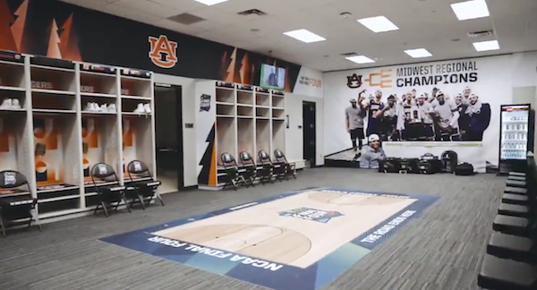 Auburn Locker Room US Bank Stadium