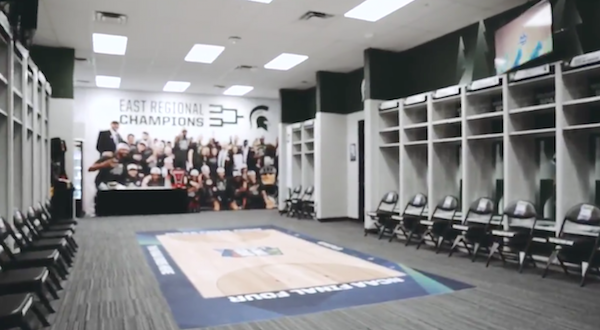 Michigan State Locker Room US Bank Stadium