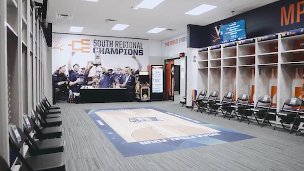Virginia Locker room US Bank Stadium