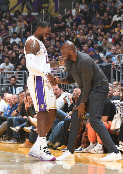 Kobe Bryant photo with LeBron James