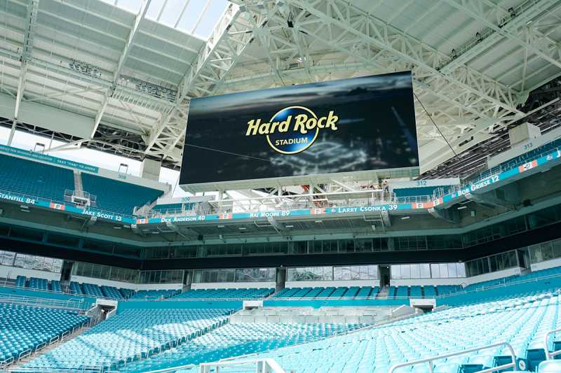 New England Patriots Buses Arrive at Hard Rock Stadium