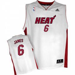 Lebron James Miami Heat Home Jersey; front & back view