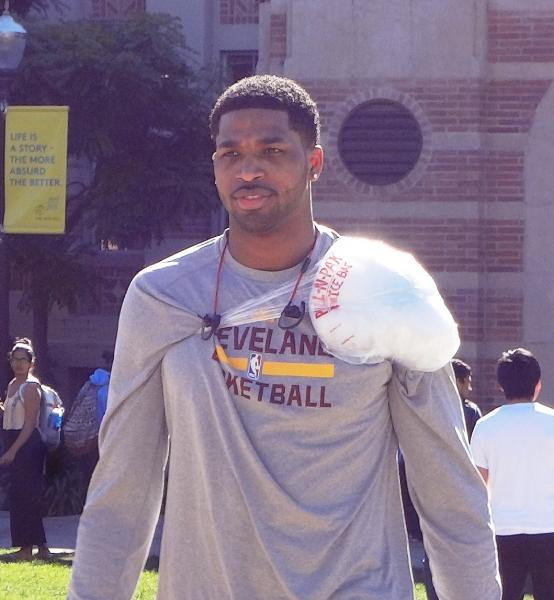 Up close photo Tristan Thompson at UCLA